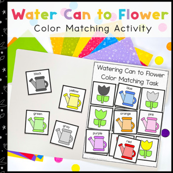 Colorful Flowers Matching Folder Game for Early Childhood Special Education