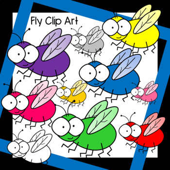 Colorful Fly Clip Art
