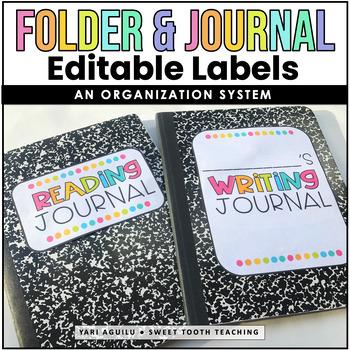 Colorful Folder/Journal/Notebook Labels