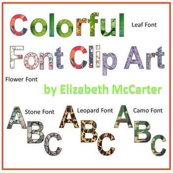 Font: Colorful Font Clip Art (5-Pack)