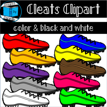 Colorful Football or Soccer Cleat Clipart! Shoe Clipart