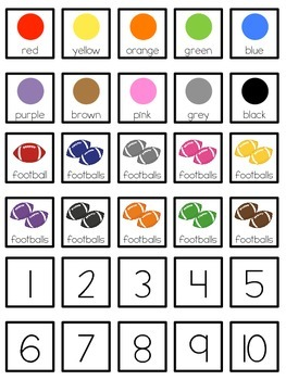 Colorful Footballs Count and Color Adapted Book