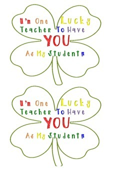 Colorful Four Leaf Clover Student Gift