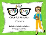 Fractions! Colorful Identification Posters (through the 12ths)