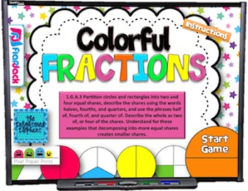 Colorful Fractions Smart Board Game