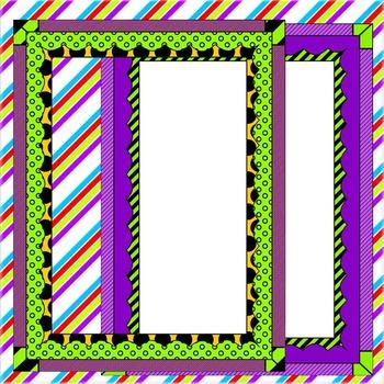 FRAMES. Colorful Frames! 15 Png+15 Jpg
