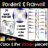 Colorful Frames | Borders ❤️Digital Movable Clip Art❤️
