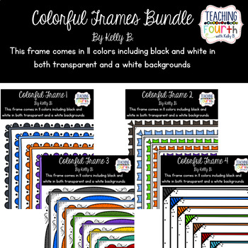 Colorful Frames Bundle by Kelly B