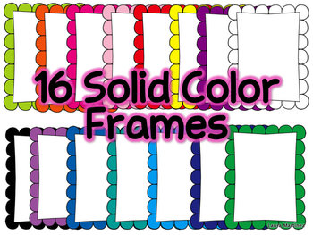 Colorful Frames - Polka Dot and Solid
