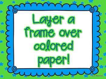 Colorful Frames - Scallop Edged