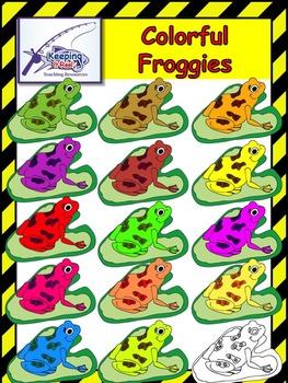 Colorful Froggies FREEBIE!!!!