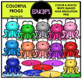 Colorful Frogs Clip Art Bundle {Educlips Clipart}