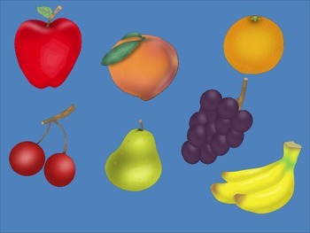 Colorful Fruit Clip Art for Personal and Commercial Use