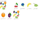 Colorful Fruits - Books and Cards- Primary Printable-PDF