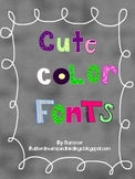 Colorful Fun Fonts (Commercial and Personal)