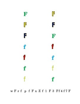 Colorful Fun Letters D to F Recognition Lower-case Upper-case Match Point-Out