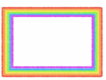 "Free TK Colorful Rainbow Fuzzy ""Monster"" Borders"