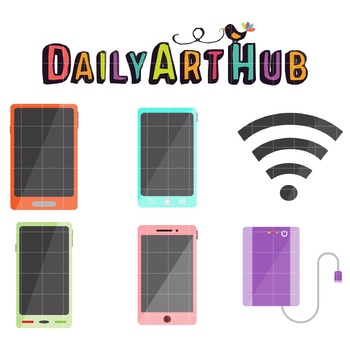 Colorful Gadgets Clip Art - Great for Art Class Projects!