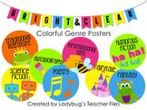 Colorful Genre Posters (Bright & Clear Decor)