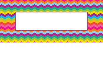 Colorful Geometric Pattern Nametag Labels