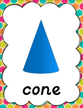 Colorful Geometric Shape Posters for Classroom Decor
