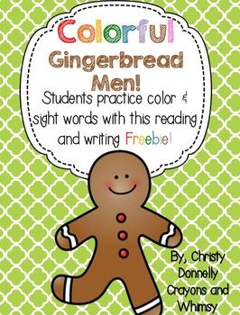 Colorful Gingerbread Men