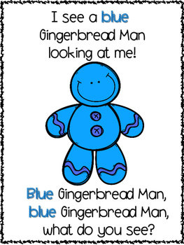 Colorful Gingerbread Men Packet