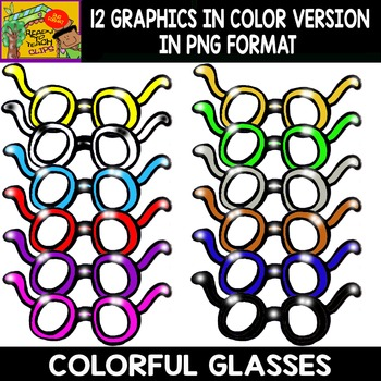 Colorful Glasses - Set of Cliparts