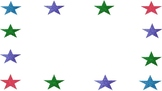 Colorful Glitter Stars PowerPoint White Background Template