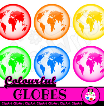 Colorful Glossy World Globes