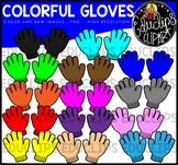 Colorful Gloves Clip Art Bundle {Educlips Clipart}