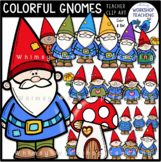 Colorful Gnomes Clip Art