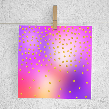 Colorful & Gold Foil Confetti Papers