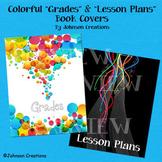 "Colorful ""Grades"" & ""Lesson Plans"" Book Covers"