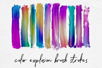 Colorful Gradient Brush Strokes