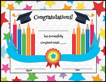 Colorful Graduation Certificates