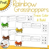 Rainbow Grasshoppers Trace Color and Build Writing Center