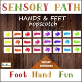 COLORFUL HANDS & FEET Sensory Path, Hopscotch for preschoo