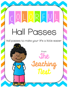 Colorful Hall Passes!