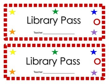 Colorful Hall Passes