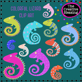 Colorful Hand Drawn Lizard Clip Art