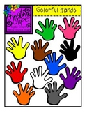 Colorful Hands {Creative Clips Digital Clipart}