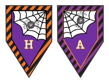 Colorful Happy Halloween Banner