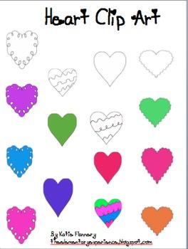 Colorful Heart Clip Art