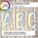 Bulletin Board Letters with Colorful Hearts