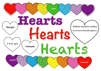 Colorful Hearts Clipart - for personal and commercial use
