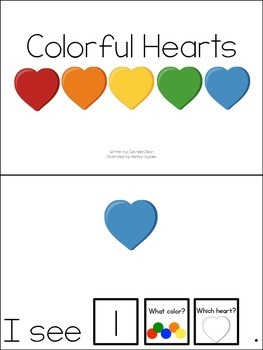 Colorful Hearts Count and Color Adapted Books