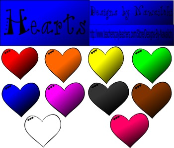 Hearts Colorful {Designs by Nawailohi}