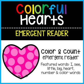 Colorful Hearts Emergent Reader