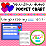 Colorful Hearts Valentine's Day Pocket Chart